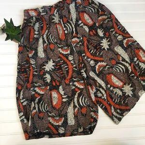 Pants - Vintage Woo Rae Hi-Rise Culottes Tribal shorts